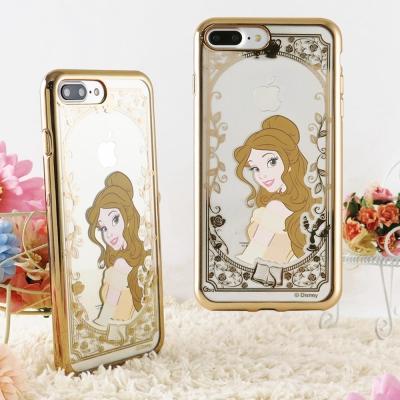 Disney 迪士尼iPhone 8/7 Plus(5.5)電鍍彩繪保護套-公主系列-貝兒