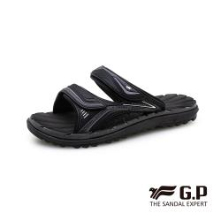G.P 中性經典款VI舒適雙帶拖鞋G0594-黑色(SIZE:37-44 共三色)