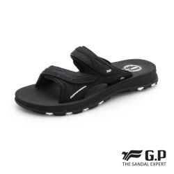 G.P 男款NewType柔軟耐用雙帶拖鞋G0560-黑色(SIZE:37-44 共三色)