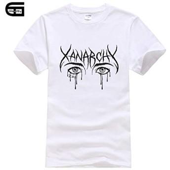 リルXAN Xanarchy Tシャツフィットネスコットン半袖おかしいTシャツ男性のクラシックTシャツ用トップスTシャツリルXAN xanarchyシャツ (L)