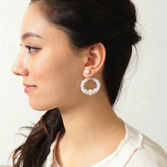 <TO BE CHIC/TO BE CHIC> フロステッドピアス(W5V32315__) シロ【三越・伊勢丹/公式】