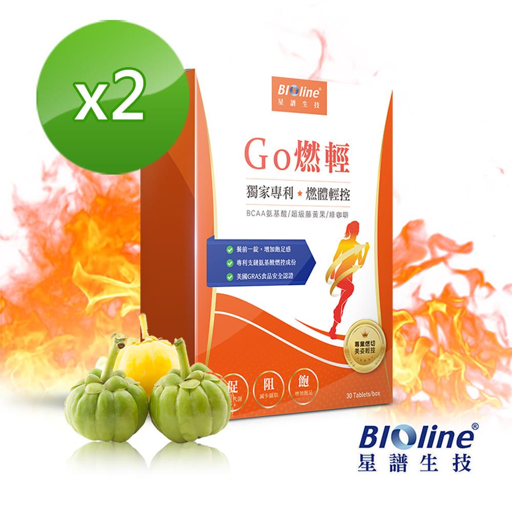 Bioline 星譜生技_Go燃輕_日間輕控錠2入組(30錠/盒)x2