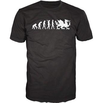 RCY-T Men's プリントグラフィックTシャツ Welsh Rugby Evolution ファッションノベルティ半袖Tシャツ