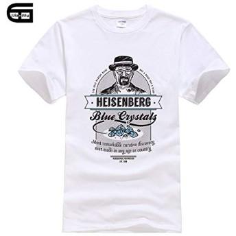 2019人気男性ハイゼンベルグコットンプリント半袖TシャツのデザインカジュアルなTシャツヒップスターのクールTシャツトップス (XL)