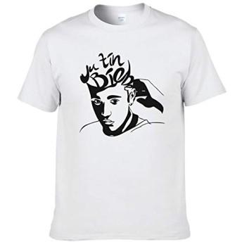 2019ファッションTシャツ創造的なデザインジャスティンビーバーTシャツの男性と女性の夏の綿プリントTシャツファンのトップスTシャツは、#225クール (XL)