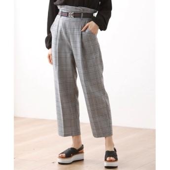 ゆるシルエットチェックパンツ【CASSE】 (大きいサイズレディース)パンツ, plus size pants