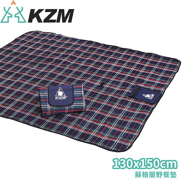【KAZMI 韓國 蘇格蘭野餐墊】K5T3M003/地墊/野餐墊/露營/登山/戶外