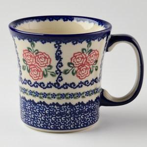 波蘭陶 漫野薔薇系列 寬口馬克杯 400ml 波蘭手工製
