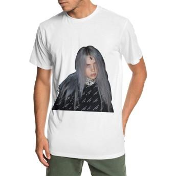 Tシャツ メンズ 半袖 Billie Eilish 夏服 スポーツ クルーネック T-shirt ベースボールウェア カジュアル ゆったり 無地 薄手 個性t おしゃれ 快適 シンプル