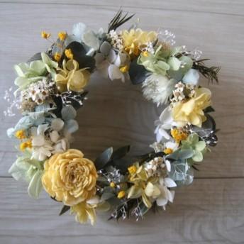 送料無料 yellowpastel wreath
