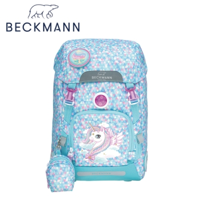 Beckmann-兒童護脊書包22L-粉藍獨角獸