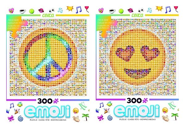 【KANGA GAMES】拼圖 表情符號 和平/笑臉 新春優惠 買一送一 美國原裝進口 300片