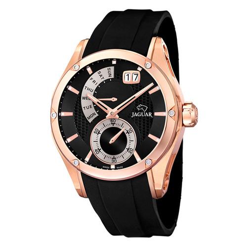 瑞士JAGUAR | 星期顯示石英錶 (玫瑰金) - J679/1