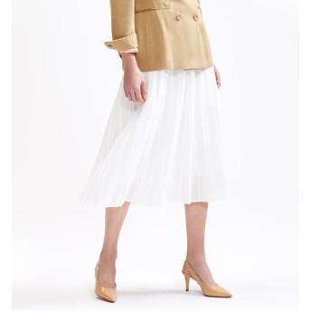 【トゥモローランド/TOMORROWLAND】 クリアコットンボイル ミディプリーツスカート