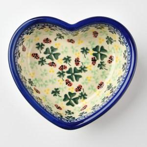 波蘭陶 幸運符號系列 愛心造型烤盤 波蘭手工製