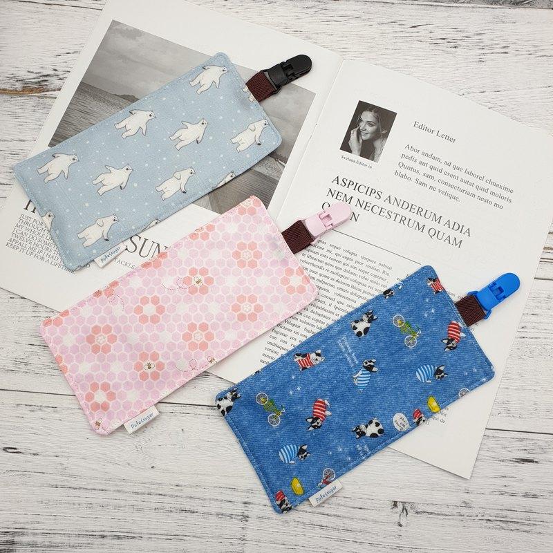 QD手感柔軟紗布夾式手帕(六層紗布) 幼稚園手帕夾 替代圍兜口水巾