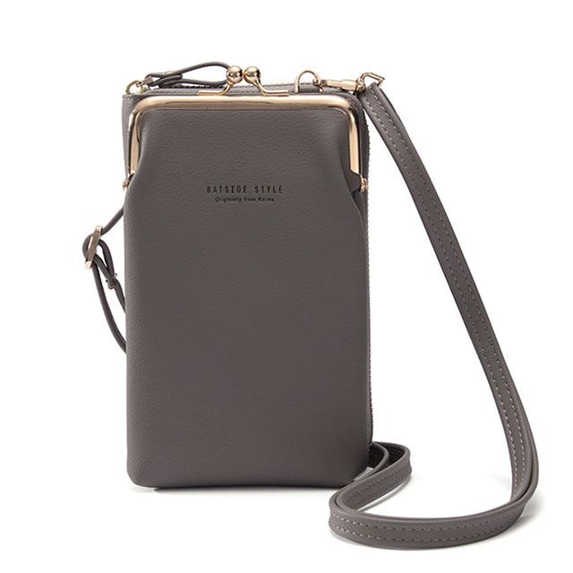 (共三色)【L.Elegant】時尚復古環扣手機長夾拉鏈零錢包B859