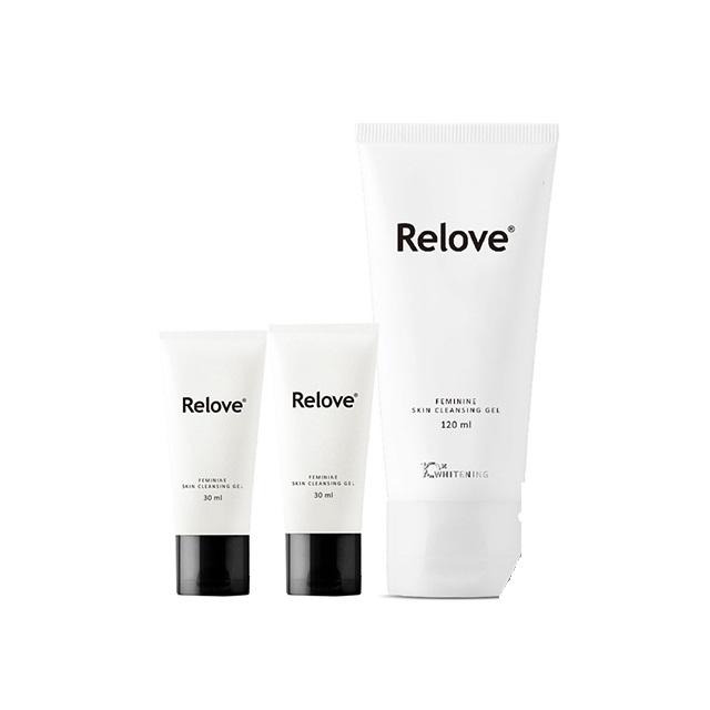 Relove 私密肌R²深層傳明酸淨白潔淨精華凝露 120ml*1 + 胺基酸精華凝露30ml*2