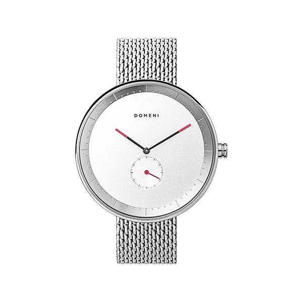 DOMENI COMPANY 316L不鏽鋼時尚銀腕錶 經典米蘭錶帶 雙色指針 (40mm/SSM01)