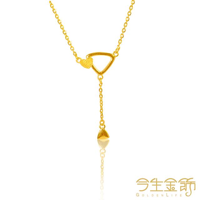 今生金飾 幾何項鍊 純黃金項鍊