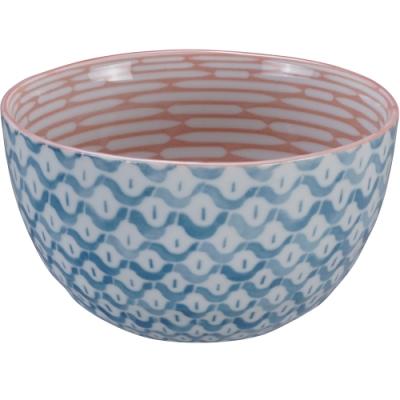 《Tokyo Design》瓷製餐碗(鱗紋藍14.5cm)