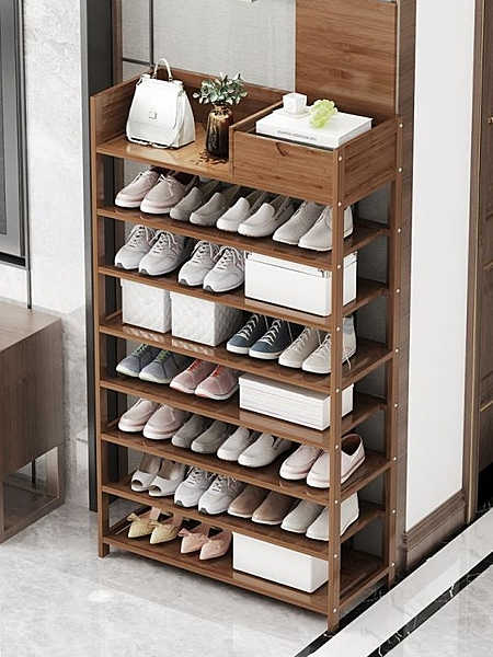鞋架多層防塵簡易家用經濟型木制省空間歐式實木大容量楠竹子陽台 後街五號