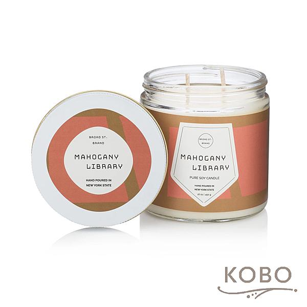 【KOBO】美國大豆精油蠟燭 - 桃木燻香 (450g/可燃燒 65hr)