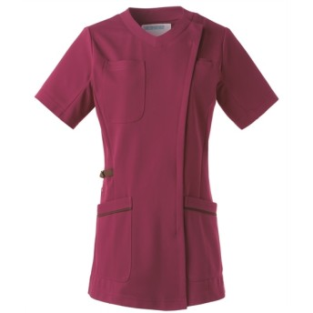 981 KAZEN レディススクラブジャケット半袖 ナースウェア・白衣・介護ウェア, Lab coat