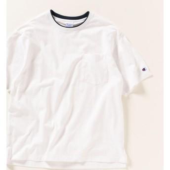 【シップス/SHIPS】 【MonoMax 6月号 p.51掲載】SHIPS any×Champion: フェイクレイヤー ポケット Tシャツ
