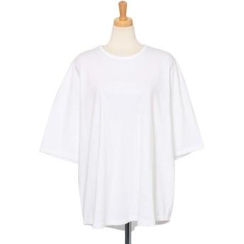 JOKnet Tシャツ レディース トップス カットソー コットン 綿100% 半袖 デイリー 着回し 無地 大きめ ゆったり 重ね着 ホワイト F