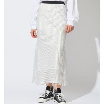 【ウィム ガゼット/Whim Gazette】 ストライプロゴプリントスカート