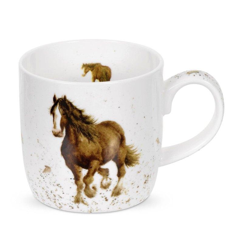 Wrendale 塗鴉動物系列-310ML骨瓷馬克杯-駿馬
