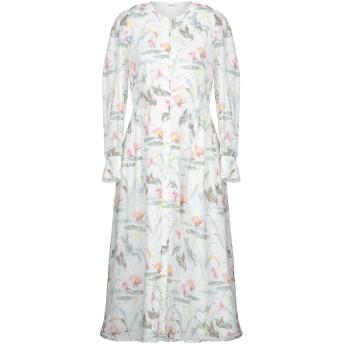 《セール開催中》VILSHENKO レディース 7分丈ワンピース・ドレス ホワイト 16 コットン 95% / ポリエステル 5%