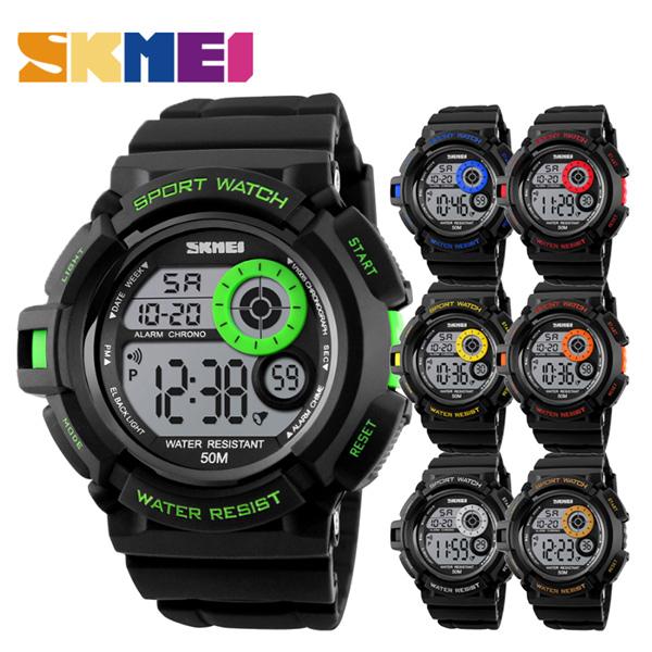 SKMEI 時刻美 1222 低調單色錶面設計多功能電子運動錶