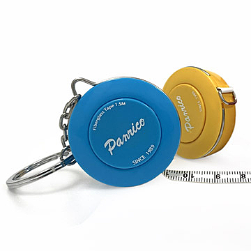 台灣制造1.5M鑰匙圈布捲尺 德國設計自動伸縮布尺