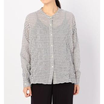 【ビショップ/Bshop】 【nicholson and nicholson】バックフリルシャツ CHECK WOMEN