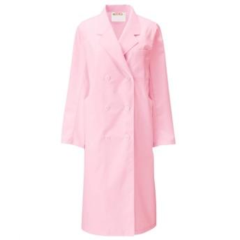 125 KAZEN レディス診察衣W型 長袖 ナースウェア・白衣・介護ウェア, Lab coat