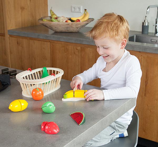 【荷蘭 New Classic Toys】10588 水果籃切切樂