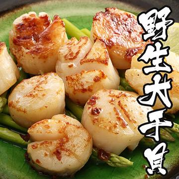 【海鮮王】特級野生大干貝1包組(500g±10%)(任選)