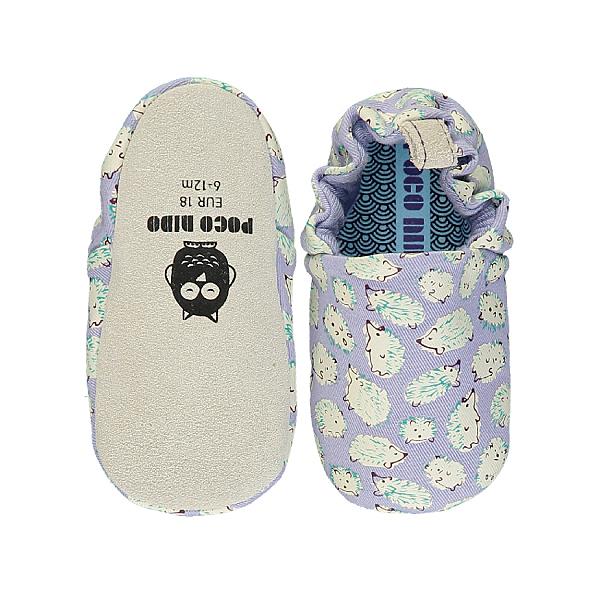 英國POCONIDO 手工鞋|嬰兒鞋|學步鞋-淡紫小刺蝟 (6~24M)