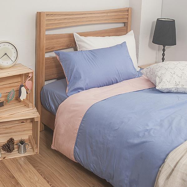 床包兩用被組 / 雙人加大【簡單生活-淺系列-多色可選】含兩件枕套 100%精梳棉 戀家小舖AAA315