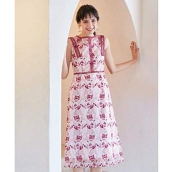 トッカ(TOCCA) 【TOCCA LAVENDER】Wavy Embroidery ドレス【ピンク系7/6】