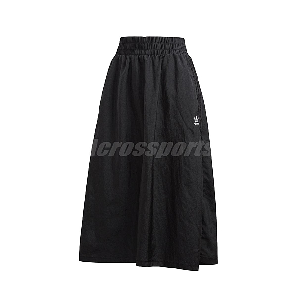 adidas 長裙 Skirt 黑 白 女款 裙子 運動休閒 修飾身形 【ACS】 FM1757