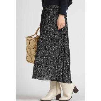 MAYSON GREY 【socolla】消しプリーツスカート その他 スカート,ブラック系その他