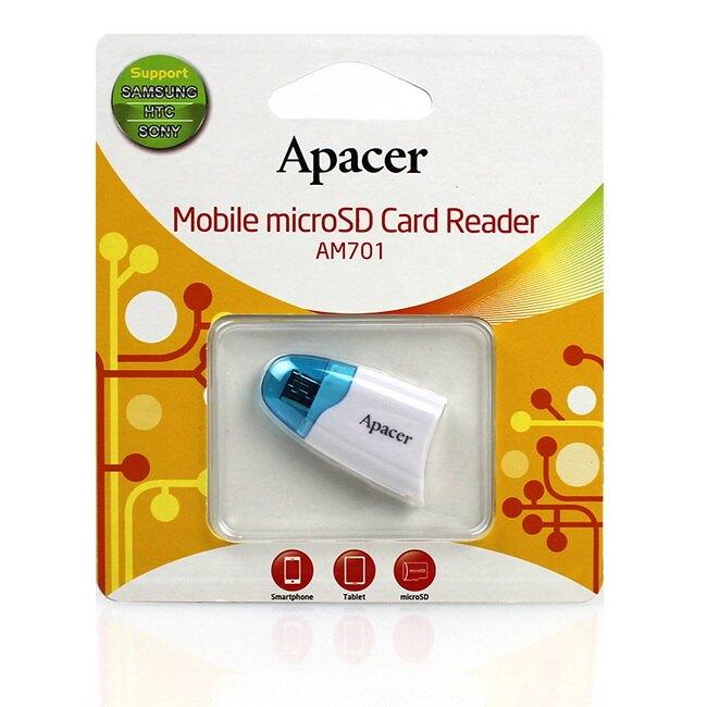 滿千折百【Apacer宇瞻】Apacer AM701/AM-701 microSD 手機專用T-Flah卡轉 micro USB OTG讀卡機-3色 公司貨