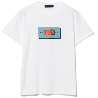 (BEAMS MEN/ビームス メン)Hikaru Matsubara × BEAMS T / TURN IT OFF TEE/メンズ WHITE