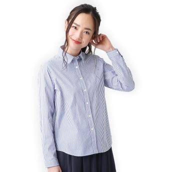ブリックハウス シャツ カジュアル 長袖 レギュラー衿 綿100% レディース ウィメンズ NL020100AB10R40-13 ブルー L
