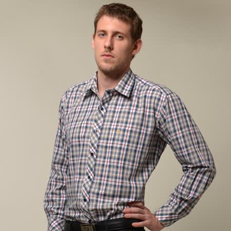【金安德森】經典格紋藍紅黃相間長袖襯衫