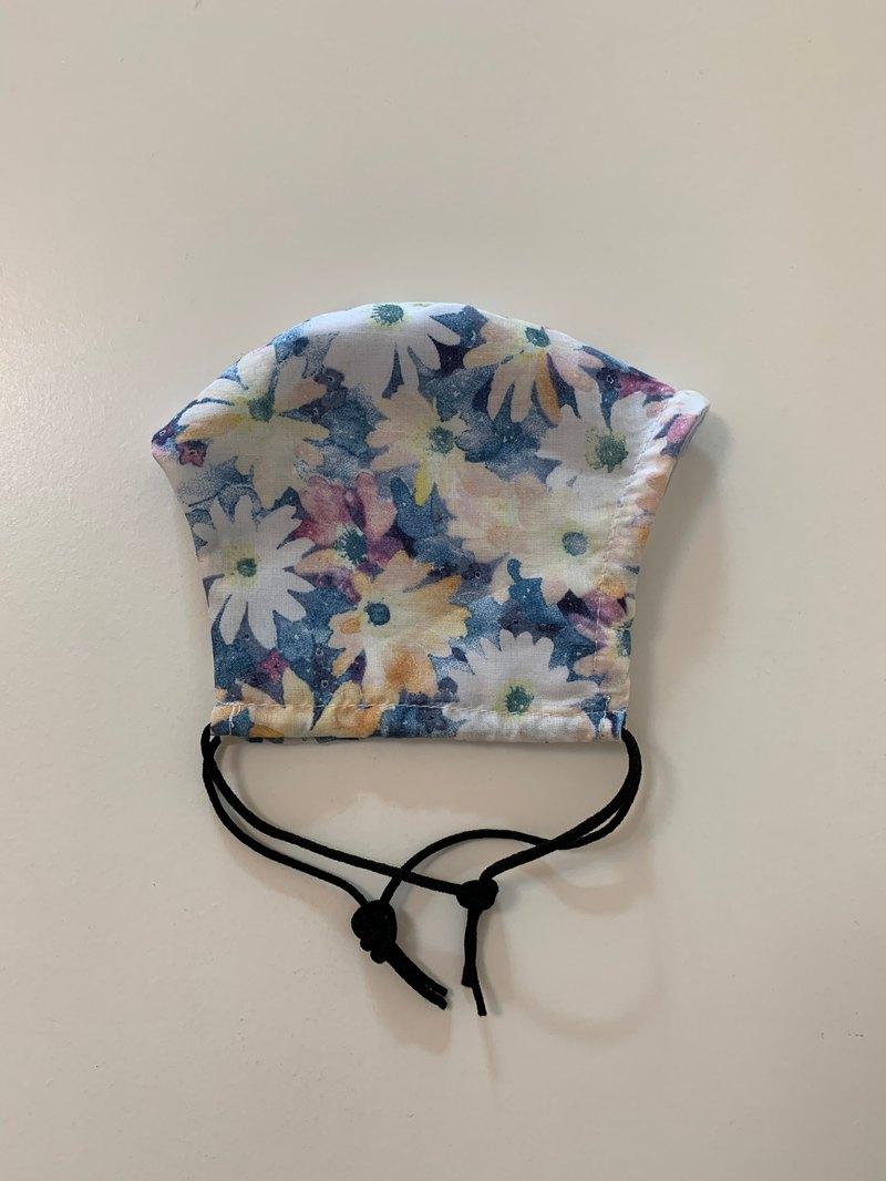 小雛菊純棉口罩套—二重紗升級版