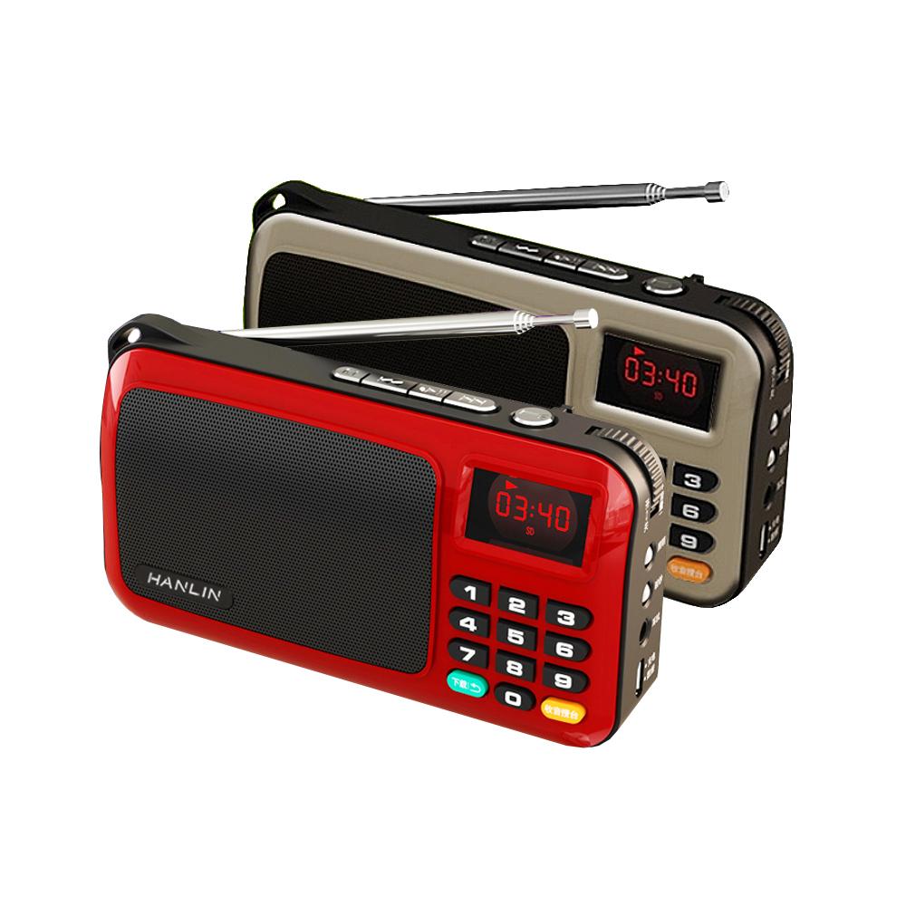 HANLIN 重低音震膜插卡FM收音機 FM309